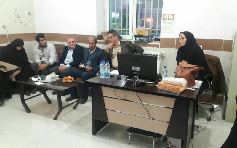 حضور مدیرعامل سیدعسگری عمادی به اتفاق اقای دکتر عابدینی در نشست صمیمی و دوستانه با بیماران شرق استان